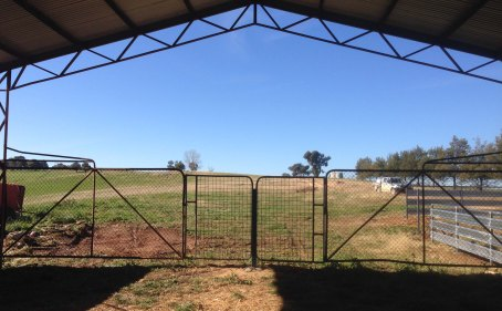 almost finished gates for hayshed