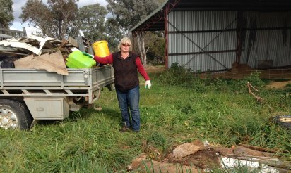 Hayshed rubbish removal
