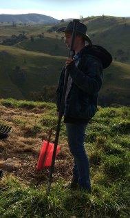 trent planting grass