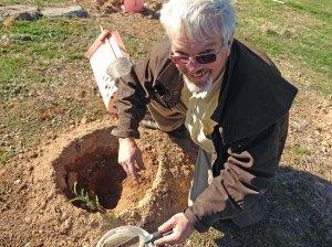 Craig planting 2013 cattleyard area