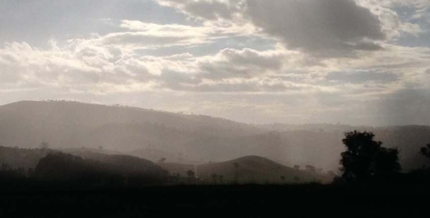 Mist on the hills Anzac Day