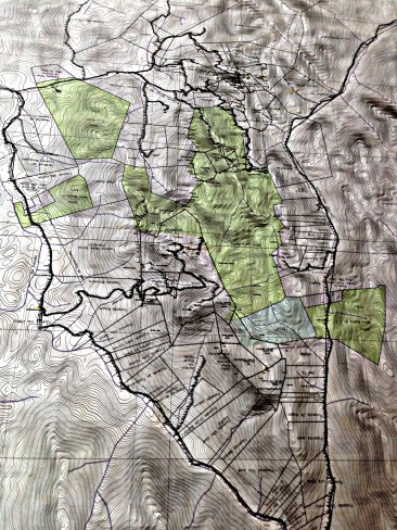 Map of Serra Bonita showing fully protected areas in green