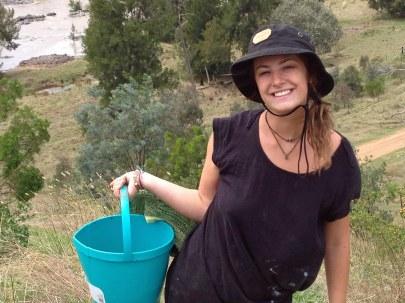 Hannah Miller and wattle seeds 2