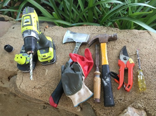 tools for cutting into willows