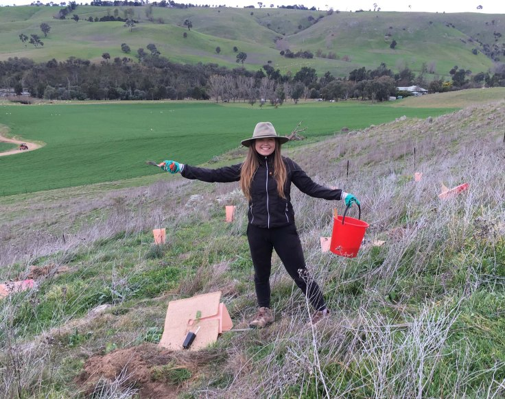 Martta and planting bucket