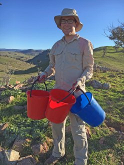 Rocky knoll water buckets