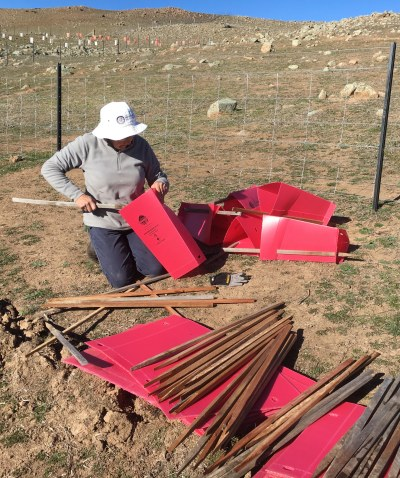 Adopt a Plot constructing covers