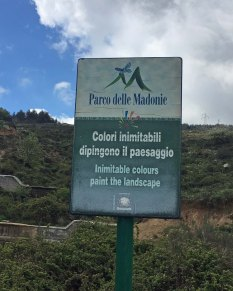 Sicily Madonie park sign
