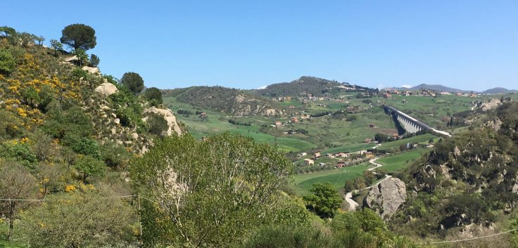 Sicily view near Sperlinga
